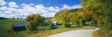 Barns Near a Road, Jenny Farm, Vermont, New England, USA Photographic Print by  Panoramic Images