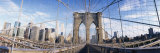 Railings of Brooklyn Bridge, Manhattan, New York City, New York, USA, Photographic Print by  Panoramic Images