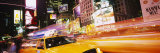 Yellow Taxi on the Road, Times Square, Manhattan, New York City, New York, USA Fotografie-Druck von Panoramic Images 