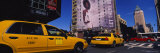 Yellow Taxies at the Road Intersection, Manhattan, New York City, New York, USA Photographic Print by  Panoramic Images