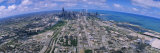 Aerial View of Lake Michigan, Chicago, Illinois, USA Photographic Print by  Panoramic Images