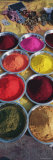 Powder Paints in Bowls, Orchha, Madhya Pradesh, India Photographic Print by  Panoramic Images
