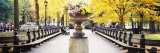 Flower Pot on a Walkway, Central Park, Manhattan, New York City, New York, USA Photographic Print by  Panoramic Images