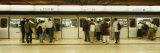 People Entering in a Subway Train, Central Station, Hong Kong Island, Hong Kong Photographic Print by  Panoramic Images