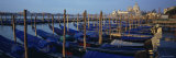 Gondolas Moored at a Harbor, Santa Maria Della Salute, Venice, Italy Photographic Print by Panoramic Images 