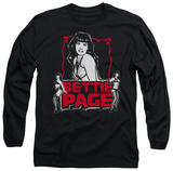 Long Sleeve: Bettie Page - Bettie Scary Hot T-shirts