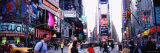 People Walking on the Road, Times Square, Manhattan, New York City, New York, USA Photographic Print by  Panoramic Images