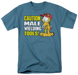 Garfield - Male Weilding Tools T-shirts