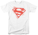 Superman - Spray Paint Shield Shirts