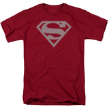 Superman - Crimson & Gray Shield T-shirts