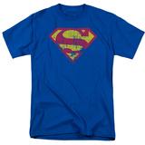 Superman - Classic Logo Distressed T-Shirt