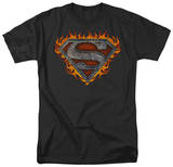 Superman - Iron Fire Shield T-shirts
