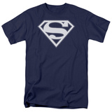 Superman - Navy & White Shield T-Shirt