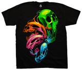 Liquid Neon Skulls T-Shirt