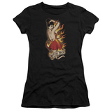 Juniors: Bettie Page - Devil Tattoo T-Shirt