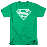 Superman - Green &amp; White Shield Shirt