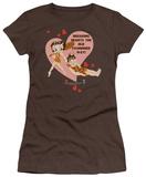 Juniors: Betty Boop - Breaking Hearts T-Shirt