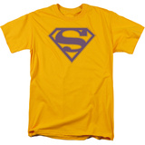 Superman - Purple &amp; Gold Shield T-Shirt
