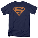 Superman - Navy & Orange Shield Shirts