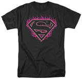 Superman - Fuchsia Flames T-shirts