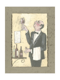 The Wine Waiter Posters by Julia Hawkins