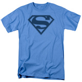 Superman - Carolina Blue & Navy Shield T-Shirt