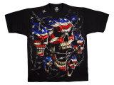 Fantasy - Patriotic Skulls T-shirts