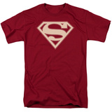 Superman - Crimson & Cream Shield T-shirts