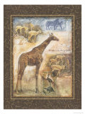 En safari II Reproduction procédé giclée par Tina Chaden
