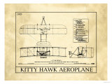 Avion Kitty Hawk Reproduction procédé giclée