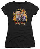 Juniors: Betty Boop - Biker Flames Boop T-Shirt