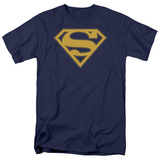 Superman - Maize &amp; Blue Shield T-Shirt