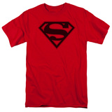 Superman - Red & Black Shield T-shirts