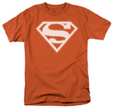 Superman - Burnt Orange & White Shield T-Shirt