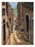 Tuscan Walkway Giclee Print by Guido Borelli
