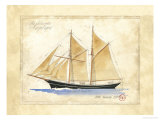 The Schooner Angelique Giclee Print by Martin Wiscombe
