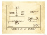 Spirit of St. Louis Giclee Print