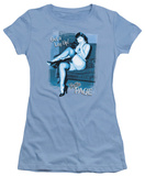 Juniors: Bettie Page - Get a Leg Up T-Shirt