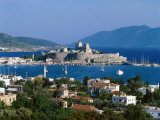 Coastal View and St.Peter's Castle, Bodrum, Aegean Coast, Turkey Photographic Print by Steve Vidler