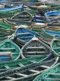 Fishing Boats in Harbour, Safi, Atlantic Coast, Morocco Fotografie-Druck von Walter Bibikow