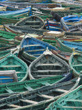 Fishing Boats in Harbour, Safi, Atlantic Coast, Morocco Photographic Print by Walter Bibikow