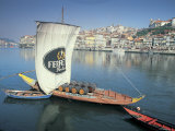 Port Carrying Barcos, Porto, Portugal Photographic Print by Peter Adams