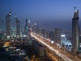 Emirates Towers, Sheik Zayed Road Area, Dubai, United Arab Emirates Photographic Print by Walter Bibikow