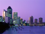 City Skyline, Brisbane, Queensland, Australia Photographic Print by Steve Vidler