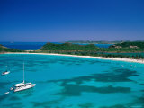 Deep Bay, Beach and Yachts, Blue Water, Antigua, Caribbean Islands Photographic Print by Steve Vidler