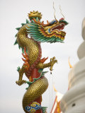 Chinese Dragon, Golden Mount, Wat Saket Temple, Bangkok, Thailand Photographic Print by Russell Young