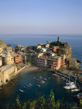 Cinque Terre, Coastal View and Village, Vernazza, Liguria, Italy Photographic Print by Steve Vidler