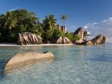 Anse Source d'Argent Beach, La Digue Island, Seychelles Fotoprint van Michele Falzone