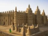 Djenne Mosque, Djenne, Niger Inland Delta, Mopti Region, Mali Fotografisk tryk af Gavin Hellier