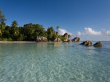 Anse Source d'Argent Beach, La Digue Island, Seychelles Fotografisk tryk af Michele Falzone